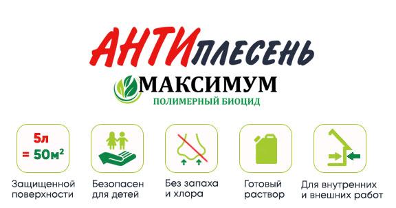 Полисепт Антиплесень для защиты деревянных изделий от плесени, грибов